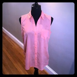 The Limited Peach Sleeveless Blouse